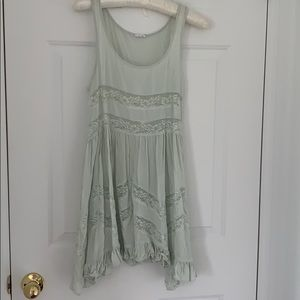 Seafoam lace/rayon baby doll dress.